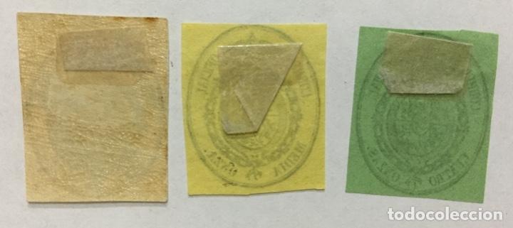 Sellos: ESPAÑA 1855 EDIFIL 35/37 - NUEVOS CON FIJASELLOS (35 CON GOMA) - Foto 2 - 181452018