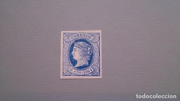NAV- ESPAÑA - 1864 - ISABEL II - EDIFIL 63 - MH* - NUEVO - LUJO - GRANDES MARGENES - VALOR CAT. 73€. (Sellos - España - Isabel II de 1.850 a 1.869 - Nuevos)