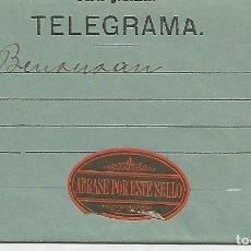 Sellos: ANTIGUO TELEGRAMA,AÑO 1865. Lote 181981438