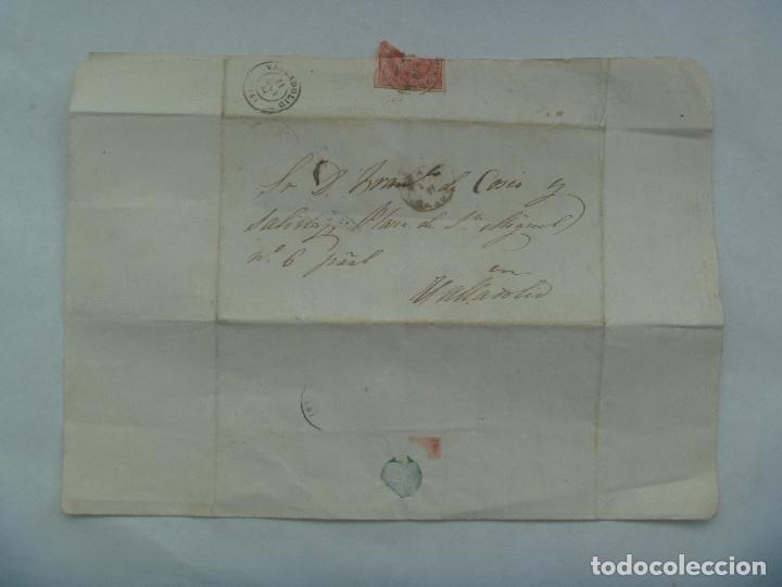 Sellos: CARTA CIRCULADA CON SELLO DE ISABEL II ROJO DE VILLABA A VALLADOLID EN 1864. MATASELLO Y MANUSCRITA - Foto 2 - 182135406