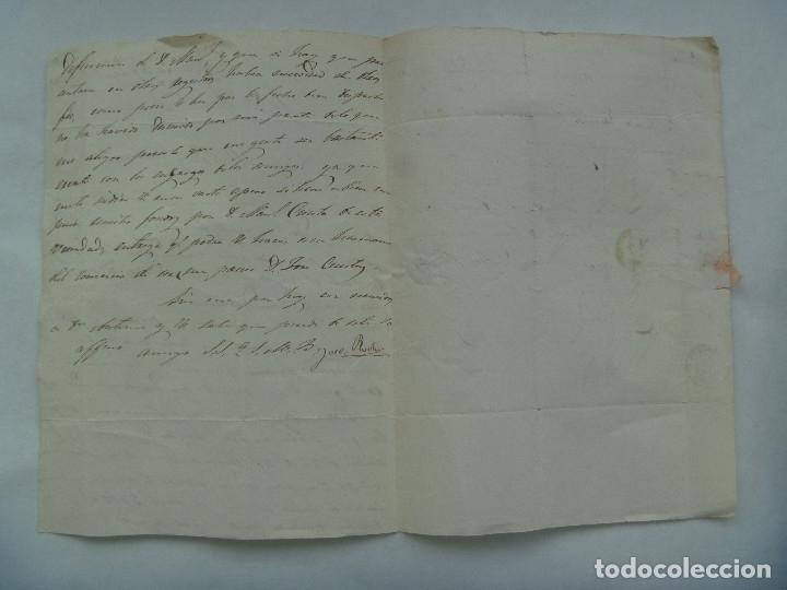 Sellos: CARTA CIRCULADA CON SELLO DE ISABEL II ROJO DE VILLABA A VALLADOLID EN 1864. MATASELLO Y MANUSCRITA - Foto 4 - 182135406