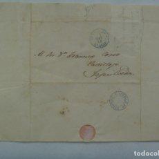 Sellos: CARTA CIRCULADA DESDE ARANDA( BURGOS ) A CASTILLEJO ( SEGOVIA ) EN 1856, SIGLO XIX. MANUSCRITA. Lote 182231498