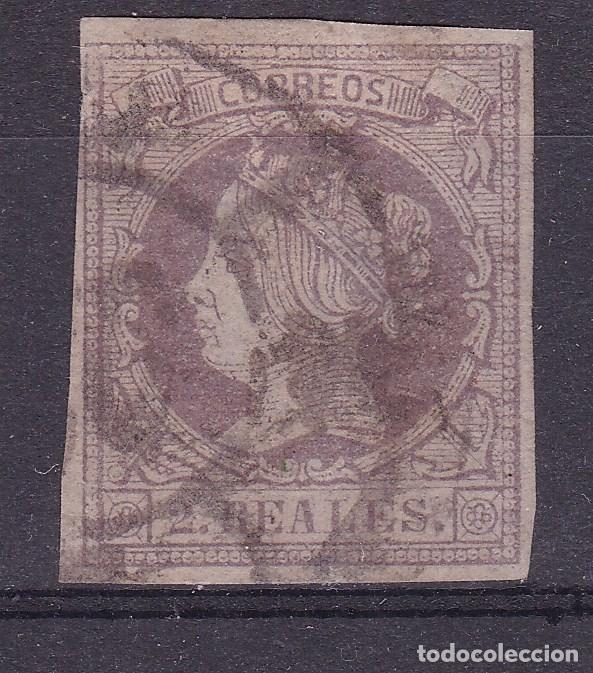 RR25- CLÁSICOS EDIFIL 56 USADO RUEDA CARRETA 26 (Sellos - España - Isabel II de 1.850 a 1.869 - Usados)