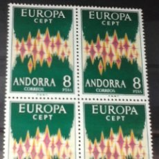 Sellos: EDIFIL SELLOS ANDORRA 1972 EUROPA. Lote 182472680