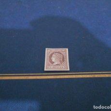 Sellos: CORREOS -2.REALES -COLOR LILA FLOJO TRASPARENTE . Lote 182602877