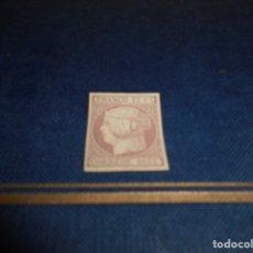Sellos: FRANCO 12 CS CORREOS 1852 SELLO COLOR LILA FLOJO. Lote 182612330