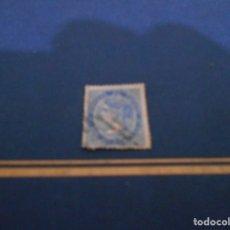 Sellos: CORREOS DE ESPAÑA CUATRO CUARTOS -COLOR AZUL -ESTA USADO. Lote 182663517