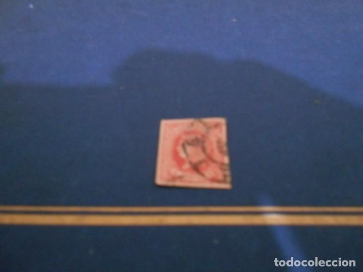 CORREOS 4 CTOS 1864---COLOR ROJO -ESTA USADO (Sellos - España - Isabel II de 1.850 a 1.869 - Nuevos)