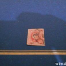 Sellos: CORREOS 4 CTOS 1864---COLOR ROJO -ESTA USADO. Lote 182665116