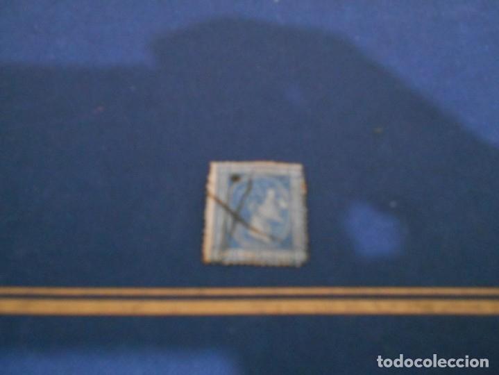 COMUNICACIONES 10CS PESETA--COLOR AZUL -ESTA USADO (Sellos - España - Isabel II de 1.850 a 1.869 - Nuevos)