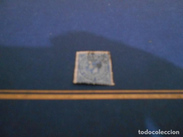 IMPUESTO DE GUERRA -10 CENT .PESETA -COLOR AZUL USADO (Sellos - España - Isabel II de 1.850 a 1.869 - Nuevos)