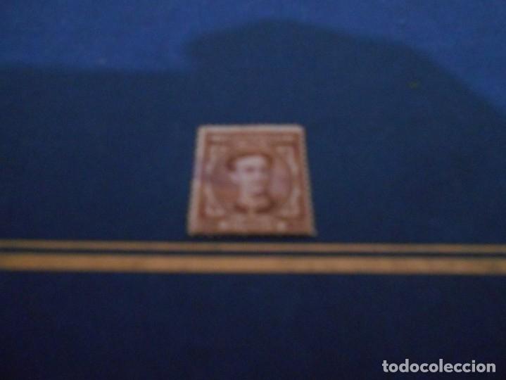 TELECOMUNICACIONES 25 CS PESETA 25 --COLOR MARRON-USADO (Sellos - España - Isabel II de 1.850 a 1.869 - Nuevos)