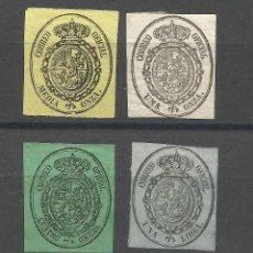 Sellos: SERIE DEL ESCUDO DE ESPAÑA DE 1.885 NUEVA. Lote 182699623