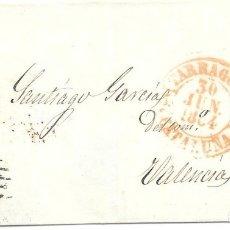 Sellos: EDIFIL 24. ENVUELTA CIRCULADA DE TARRAGONA A VALENCIA.1854. Lote 182711275