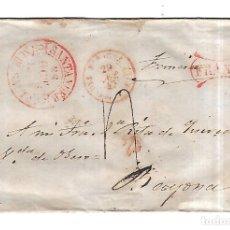 Sellos: SOBRE DE SANTANDER A BAYONA. FRANCO. VER. 1869. Lote 182943365
