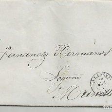Sellos: ESPAÑA.AÑO 1868.ISABEL II,CARTA COMPLETA CIRCULADA DE VALLADOLID A MUNILLA.. Lote 183168926
