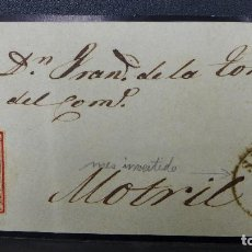 Sellos: FRONTAL DE SEVILLA A MOTRIL CON SELLO DE 2 CUARTOS DE 1854 FECHADOR CON MES INVERTIDO. Lote 183413426