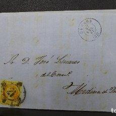 Sellos: CARTA DE MEDINA POMAR CON SELLO DE 4 CUARTOS AÑO 1861. Lote 183439310