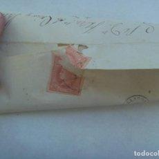 Sellos: CARTA CIRCULADA CON SELLO DE ISABEL II ROJO DE VILLABA A VALLADOLID EN 1864. MATASELLO Y MANUSCRITA. Lote 183457518