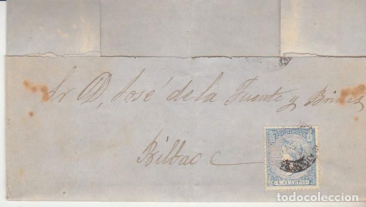 SELLO 66. BILBAO. 1866 (Sellos - España - Isabel II de 1.850 a 1.869 - Cartas)