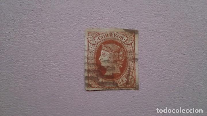 ESPAÑA - 1864 - ISABEL II - EDIFIL 67 - SUPER LUJO - GRANDES MARGENES - VALOR CATALOGO 122€. (Sellos - España - Isabel II de 1.850 a 1.869 - Usados)