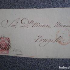 Sellos: FRONTAL DE CARTA AÑO 1855 PARRILLA SOBRE EDIFIL 33 ORIGEN?? A TRUJILLO. Lote 183683963