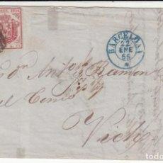 Selos: CARTA ENTERA CON SELLO NUM.33 DE HERNANDEZ Y RODRIGUEZ EN C. CUCH DE BARCELONA A VIC- VICH 1855. Lote 183701571