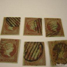 Sellos: LOTE 6 SELLOS ISABEL II 1855 EDIFIL 39/42 USADOS. Lote 183744791