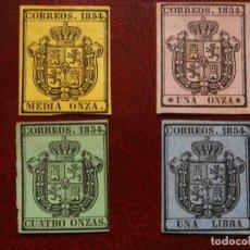 Sellos: 1854 NUEVOS - SERIE COMPLETA ESCUDO DE SPAÑA - ISABEL II - EDIFIL 28/31-.. Lote 183776691