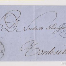 Sellos: CARTA ENTERA. RUEDA DE CARRETA DE VALLADOLID. 1860. LUJO. Lote 183958598