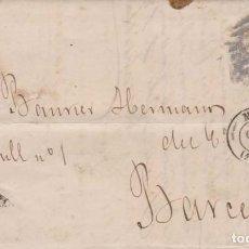Sellos: AÑO1866 EDIFIL 81 ISABEL II CARTA MATASELLOS REJILLA VIFRA 1 MADRID MEMBRETE MANSILLA RIVA Y CIA . Lote 184038102
