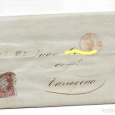 Sellos: ALICANTE A TARRAGONA - SOBRE CARTA COMERCIAL AÑO 1855 - VER FOTO. Lote 184191707
