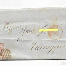 Sellos: ALICANTE A TARRAGONA - SOBRE CARTA COMERCIAL MATASELLOS NEGRO - AÑO 1855 - VER FOTO. Lote 184195387