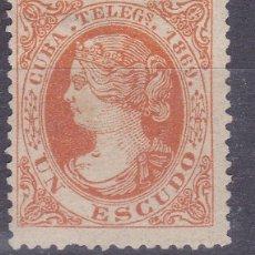 Sellos: TT7- CLÁSICOS COLONIAS CUBA TELÉGRAFOS EDIFIL 6 NUEVO SIN GOMA . Lote 185925018