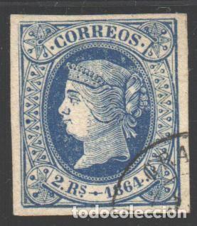 ESPAÑA, 1864 EDIFIL Nº 68, LUJO (Sellos - España - Isabel II de 1.850 a 1.869 - Usados)