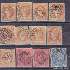 Sellos: JJ12- CLÁSICOS FECHADORES DON BENITO BADAJOZ X 12 SELLOS. Lote 186119562