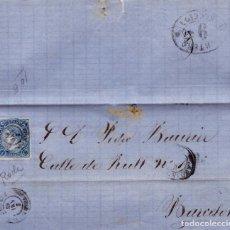 Sellos: AÑO1865 EDIFIL 75 ISABEL II CARTA DE RODA MATASELLOS VICH BARCELONA. Lote 186349432