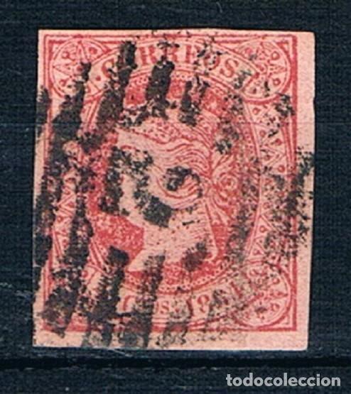 ESPAÑA 1864 EDIFIL 64 USADO MATASELLOS 2 BARCELONA CENTRADO (Sellos - España - Isabel II de 1.850 a 1.869 - Usados)