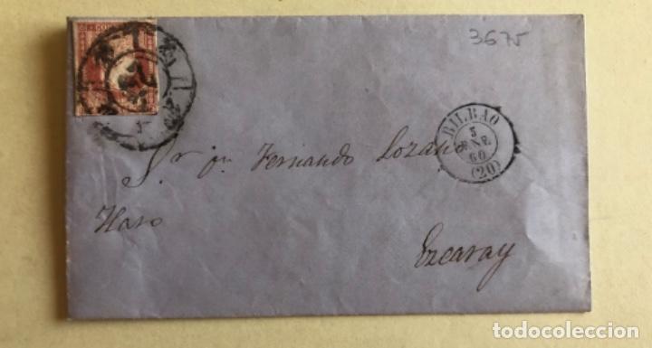 CARTA- BILBAO- EZCARAY- LA RIOJA- FERNANDO LOZANO- AÑO 1.860 (Sellos - España - Isabel II de 1.850 a 1.869 - Cartas)