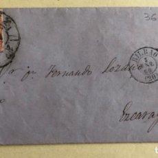 Sellos: CARTA- BILBAO- EZCARAY- LA RIOJA- FERNANDO LOZANO- AÑO 1.860. Lote 189408065