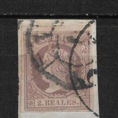 Sellos: ESPAÑA 1860 EDIFIL 56 USADO - 19/9. Lote 189636440