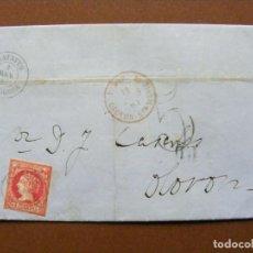 Sellos: CARTA COMPLETA CALATAYUD (ZARAGOZA) A OLORON (FRANCIA). FRANQUEADA CON 12 CUARTOS DE 1861. EDIFIL 53. Lote 189674131