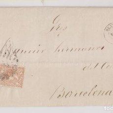 Sellos: CARTA ENTERA. SEVILLA A BARCELONA. 1868. Lote 189709296