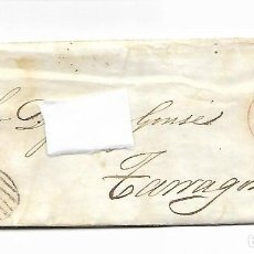 Sellos: SOBRE - CARTA COMERCIAL REINTEGRADO AÑO 1855 - DESDE ALMERIA - CONTIENE DOS CERTIFICADOS DEL CAPITAN. Lote 189711750