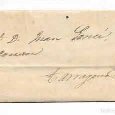 Sellos: SOBRE - CARTA COMERCIAL REINTEGRADO AÑO 1855 - DESDE AGUILAS A TARRAGONA. Lote 189733521