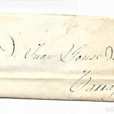Sellos: SOBRE - CARTA COMERCIAL REINTEGRADO AÑO 1855 - DESDE VALLS A TARRAGONA. Lote 189733661