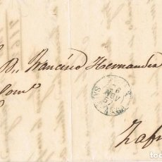 Sellos: 0769. CARTA ENTERA BEJAR (SALAMANCA) 1857. FECHADOR TIPO I EN AZUL. Lote 190354748