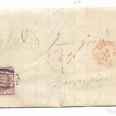 Sellos: SOBRE - CARTA COMERCIAL REINTEGRADO AÑO 1855 - DESDE TORTOSA A TARRAGONA. Lote 190636983