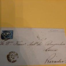 Sellos: 1866 RIBADEO MATASELLO VIVERO SOBRE SELLO ISABEL II 4 CUARTOS EDIFIL 88. Lote 190804098