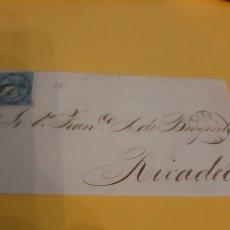 Sellos: PREFILATELIA MATASELLO LUGO 34 DIRIGIDO RIBADEO SELLO ISABEL II EDIFIL 88. Lote 190817410
